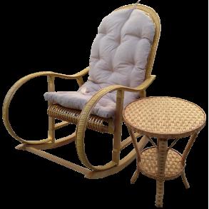 Крісло гойдалка і столик