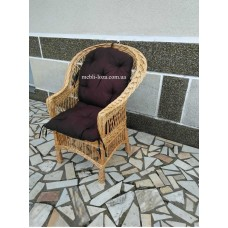 """Крісло з лози """"Просте"""" + подушка"""