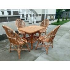 """Комплект меблів з лози """"Ракушка"""" 4 крісла"""