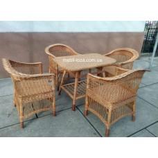 """Комплект меблів з лози """"Барний"""" 4 крісла"""