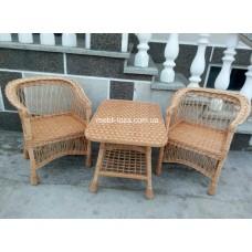 """Комплект меблів з лози """"Барний"""" 2 крісла  №2"""