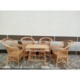 """Комплект меблів з лози """"Простий"""" 4 крісла"""