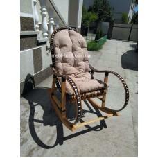 Крісло гойдалка з лози + ротанг (розборние) №3