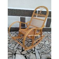 Крісло гойдалка з лози + ротанг (розборние) №2