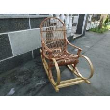 Крісло гойдалка з лози